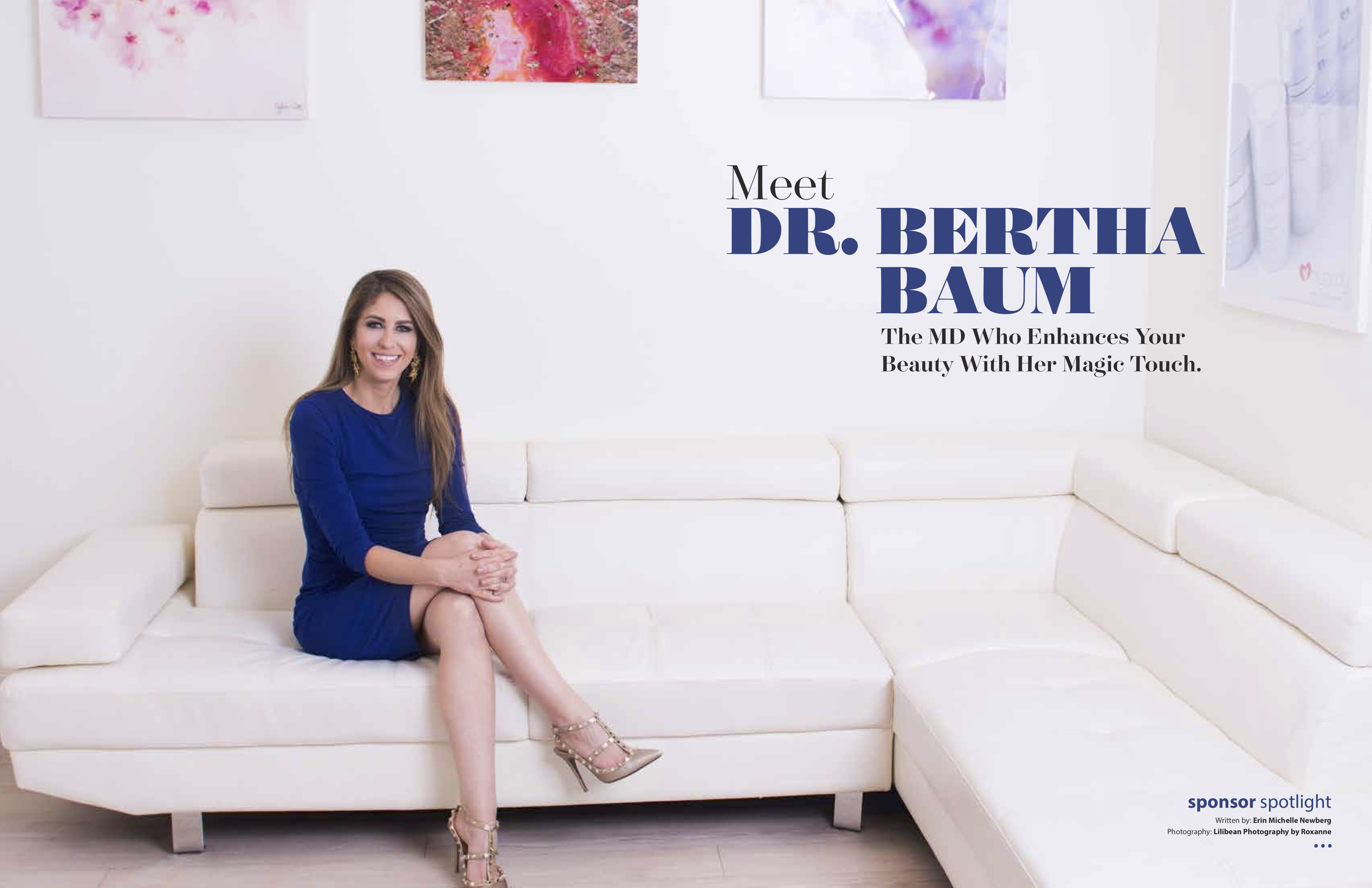 GB Living: Meet Dr. Bertha Baum - The MD Who Enhances Your Beauty With Her Magic Touch.